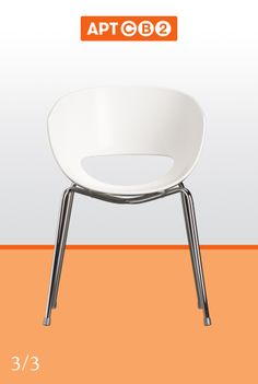 Very rock and roll. Sometimes you just have to express your wild side. See the Orbit White Arm Chair in the #APTCB2 Collection at www.cb2.com/APTCB2. #chair