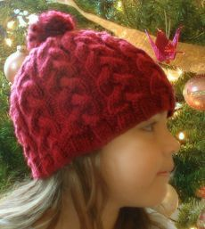 Free Knitting Pattern - Hats: Braided Hat-w/out the poof ball it's cute (: Knitted Hats Kids, Knitting For Kids, Kids Hats, Loom Knitting, Knitting Patterns Free, Free Knitting, Knitting Projects, Baby Knitting, Hat Patterns