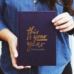 Dies ist dein Jahr Tagebuch 2015 Marineblau 2015-Planer von MiGoals
