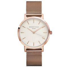 ROSEFIELD Watch Golden Genuine Leather Quartz Movement Water Resistant Famous Brand Watch