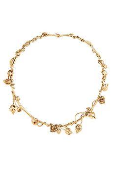 Gold Aurélie Bidermann floral vine necklace