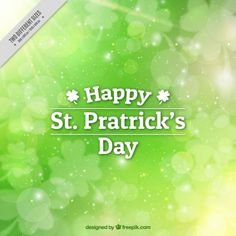Blurred background for st patrick's day Free Vector