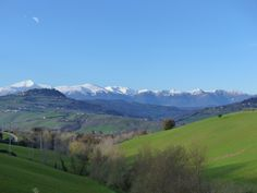 Winter view from Villa Miramonti, Le Marche. Come and stay in one of our apartments!