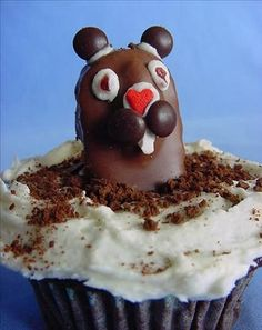 Feb 2: Groundhog Day | Groundhog Cupcakes: Enjoy a sugar high from these cuties and you might not care if he sees his shadow.