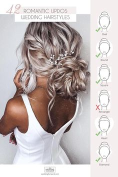 42 Wedding Hairstyles - Romantic Bridal Updos ❤️ We make a list of our favor. 42 Wedding Hairstyles – Romantic Bridal Updos ❤️ We make a list of our favorite wedding hairstyles for long hair. Look through it and pick your perfect variant to become th Wedding Hairstyles For Long Hair, Braids For Long Hair, Wedding Hair And Makeup, Elegant Hairstyles, Bridal Makeup, Wedding Beauty, Hair For Bride, Pretty Hairstyles, Wedding Hair Blonde