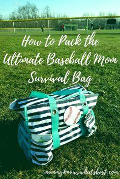 to Pack the Ultimate Baseball Mom Survival Bag (Printable Checklist!) The Ultimate Baseball Mom Survival Bag Checklist Baseball Snacks, Travel Baseball, Baseball Tips, Baseball Games, Baseball Dugout, Baseball Equipment, Baseball Stuff, Baseball Scoreboard, Baseball Uniforms