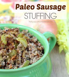 Paleo Sausage stuffing  #21dsd #stuffing #grainfree