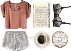 sunday mornings by flerise liked on Polyvore - Lingerie, Sleepwear & Loungewear - http://amzn.to/2ieOApL