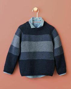 Guéric Phil Ecojean Boy & # s Pullover Model - Tricots Boys Knitting Patterns Free, Sweater Knitting Patterns, Knitting For Kids, Knitting Designs, Free Knitting, Knitting Projects, Baby Pullover, Boys Sweaters, Pulls