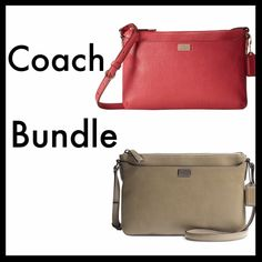Bundle of 2 Coach Bags I'm offering a bundle of the pink and olive Coach bags for $100. Let me know if you're interested. Please take a look at the individual listings for details. Coach Bags Crossbody Bags