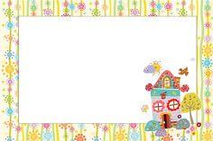 Jardim Casinha de Bonecas - Kit Completo com molduras para convites, rótulos para guloseimas, lembrancinhas e imagens! - Fazendo a Nossa Festa Printable Tags, Free Printables, Floral Invitation, Invitations, Borders And Frames, Art Party, Writing Paper, Cartoon Drawings, Clip Art