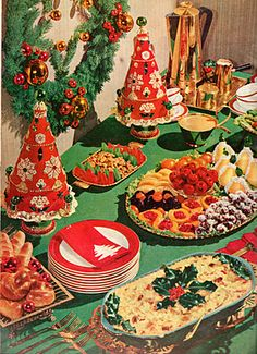 holiday buffet via 1950s magazines - Buffet Retro Cuisine