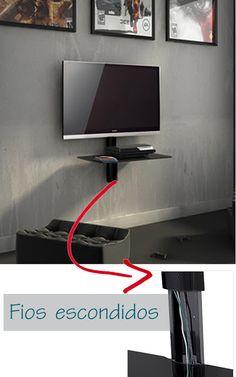 Para esconder os fios da Tv                                                                                                                                                                                 Mais