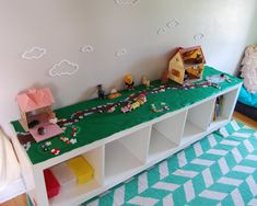 Play surface for calico critters, legos or playmobiles