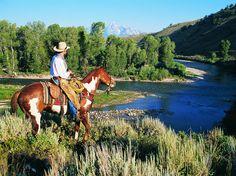 Gros Ventre River Ranch, Wyoming, near Grand Tetons