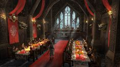 viking norse throne room fantasy concept artstation castle hall rooms inspired medieval banquet interior nordic vikings ruedy stacher keep feast