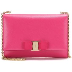Salvatore Ferragamo Ginny Small Leather Shoulder Bag (8.560.215 IDR) ❤ liked on Polyvore featuring bags, handbags, shoulder bags, pink, leather shoulder bag, salvatore ferragamo handbag, pink handbags, pink purse and shoulder handbags