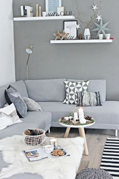 Novel Small Living Room Design and Decor Ideas that Aren't Cramped - Di Home Design Living Room Grey, Home Living Room, Living Room Decor, Living Spaces, Small Living, Modern Living, Scandi Living, Nordic Living Room, Modern Room