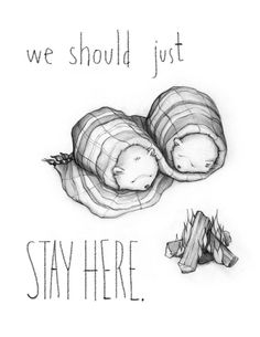 On this day after Christmas, I am totally feeling this way. :: We Should Just Stay Here by Catherine Lazar Odell on Etsy