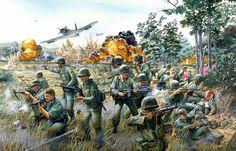"""Broken Arrow"" Vietnam South Vietnam, Vietnam War, Air Vietnam, Military Art, Military History, Battle Of Ia Drang, Military Drawings, World War One, American Civil War"