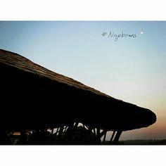 Hey moon #Ngebams #FullMoon #Bamboo #GreenArchitecture #GreenDesaign