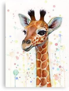 Baby Giraffe Watercolor Canvas Print Canvas Art by Olga Shvartsur, Art Baby canvas Gir. : Baby Giraffe Watercolor Canvas Print Canvas Art by Olga Shvartsur, Art Baby canvas Giraffe kunstacryl Olga Print Shvartsur Watercolor Baby Giraffe Watercolor Watercolor Paintings Tumblr, Watercolor Canvas, Watercolor Animals, Easy Watercolor, Butterfly Watercolor, Butterfly Art, Giraffe Painting, Giraffe Art, Giraffe Nursery
