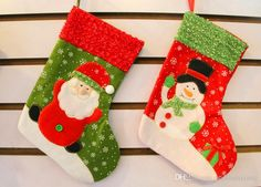 Big Deal !Christmas Stocking Candy Bags Christmas Socks Treat Gift Bags Pocket for Christmas Gift &Decoration Halloween Party Santa Claus Christmas Stocking Christmas Christmas Decorations for Home Online with 1.48/Piece on Williamxiang's Store | DHgate.com