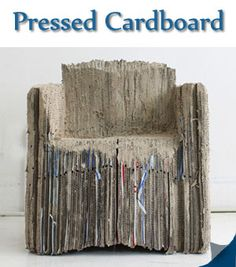 """22 Recycled Furniture Designs Made From Household Objects"" *Someone is seriously going to recycle this crapboard and make a chair out of it? Really? Just because you CAN recycle something, doesn't mean you need to use it. Lets let some things rest in piece*"