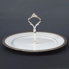 Noritake Crestwood Platinum Handled Hostess Tray- I would like to add this to my china