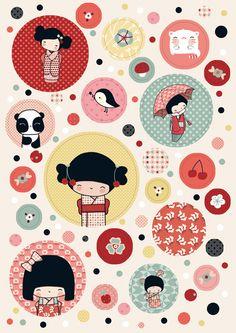 Kokeshis books by Annelore Parot http://kokeshi-leclub.com/kokeshi/