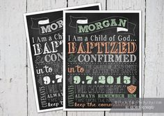 Chalkboard LDS Baptism Printable Digital by PocketFullofPixels