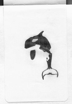 Negative Space Orca by ~tylergregorchik on deviantART. Would make a nice orca ta. - Negative Space Orca by ~tylergregorchik on deviantART. Would make a nice orca tattoo, which I've - Orca Tattoo, Whale Tattoos, Body Art Tattoos, Raven Tattoo, Hamsa Tattoo, Orcas, Unique Tattoos, Cool Tattoos, Tatoos