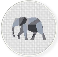 Origami Elephant ... by teamembro3703945   Embroidery Pattern - Looking for a embroidery pattern for your next project? Look no further than Origami Elephant Cross Stitch Pattern from teamembro3703945! - via @Craftsy