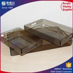 Various Color Acrylic Organizer Tray Plexiglass Dinner Display Tray