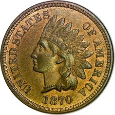 Indian Cents - 1870 1C MS