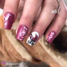 Looking in awe this drastic nail transformation! Nail Art Designs Videos, Nail Designs Pictures, Nail Art Videos, Pink Nail Designs, Simple Nail Art Designs, Best Nail Art Designs, Pink Nail Art, Yellow Nails, Gel Nail Art