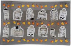 IHR Tombstones Halloween Over-the-Hill Rectangular Glass Dinner Plates GPG15693