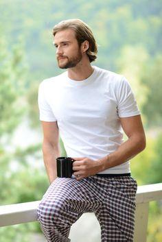 Relaxare!#sofiaman Nightwear, Pancakes, Polo Ralph Lauren, Pajamas, Button Down Shirt, Men Casual, Mens Tops, Shirts, Fashion