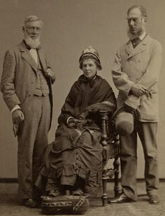 1877. Asa Gray (American Botanist) and Sir Joseph Hooker (British Botanist) Seated is Mrs. Jane Lathrop Loring Gray, wife of Asa Gray, with an encyclopedic knowledge of plants.