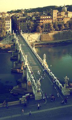 ponte sant'angelo, rome, italy.
