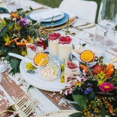 Summer Table Set Up By @crisfeldenscatering