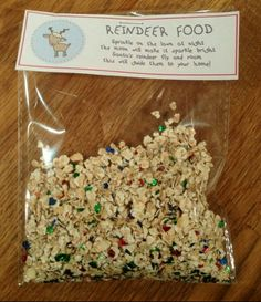 """What a cute idea from High Cross Primary School #PTA ! """"The Elves here have been busy creating some sparkly reindeer food that you can sprinkle outside on #Christmas Eve so that Santa can find his way to your house. We'll be selling it at the Christmas Fayre but you can also order it here. £1:00 a bag or £1:50 for 2 bags."""""""