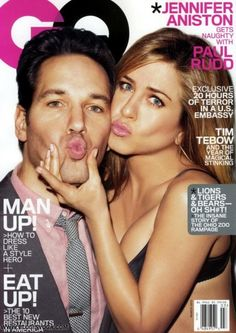 Jennifer Aniston and Paul Rudd for GQ Magazine