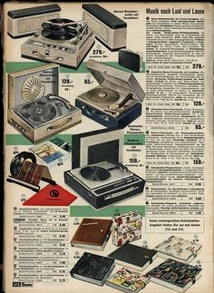 1963 Portable Record Players
