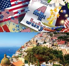 This is Positano today... Happy Independence Day to all our american guests!  Web Site: www.amalfisails.com E-Mail: info@amalfisails.it