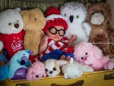 Where's Waldo Baby Photo Prop Newborn to by LetsBeBeautiful. Great baby photo idea haha wheres waldo!