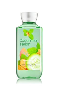 Cucumber Melon - Shower Gel - Signature Collection - Bath & Body Works - Wash your way to softer, cleaner skin with a rich, bubbly lather bursting with fragrance. Moisturizing Aloe and Vitamin E combine with skin-loving Shea Butter in our most irresistible, beautifully fragranced formula!