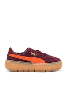fdcc64389ab Shop for Puma Suede Platform Trace Block Sneaker in Winetasting   Flame at  REVOLVE.