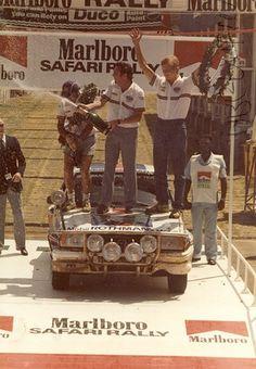 Safari rally winner Ari Vatanen on his Opel Ascona African Countries, Rally Car, African Safari, Kenya, Race Cars, Pilot, Racing, Pure Joy, Legends