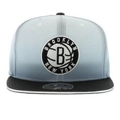 Brooklyn Nets Mitchell & Ness Faded 2 Tone Fitted Cap New Era Caps, Snapbacks, Bucket Hats, T-Shirts, Streetwear USA Cranium Fitteds